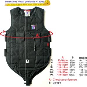 Vest diving sizes